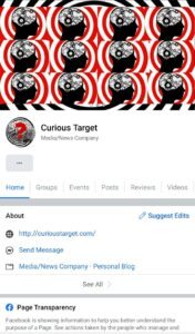 Curious Target is on Facebook (and totally unfindable)